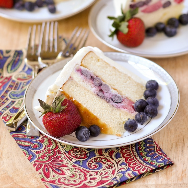 Vanilla Berry Ice Cream Cake