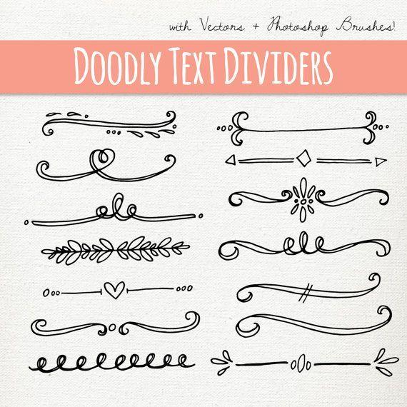 Doodly Text Divider Clip Art