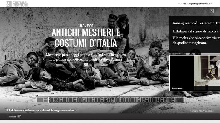 """Alinari online on Google Cultural Institute!  Visit the exhibition! www.google.com/culturalinstitute/collection/alinari-archives """"Ancient crafts and customs of Italy photographed in XIX Century"""""""