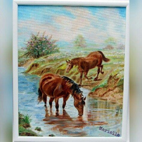 """ Horses "" , oil on canvas"