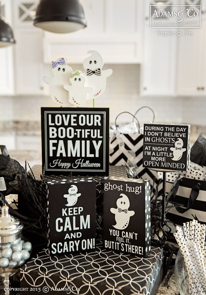 The 161 best Halloween Decor images on Pinterest   Happy halloween     Ghostess with the Mostest Collection   Black   White   Halloween  decorations  ghost