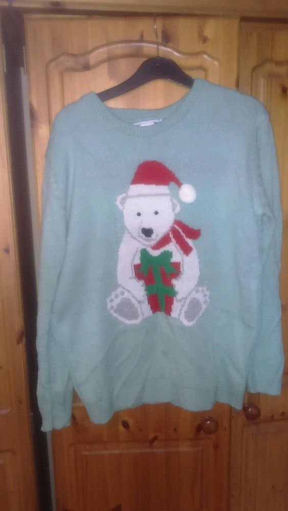 Excellent condition ladies Christmas jumper, size small, polar bear in Clothes, Shoes & Accessories, Women's Clothing, Jumpers & Cardigans | eBay