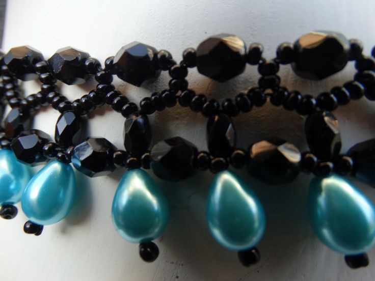 Ketting Black and Blue zoom in