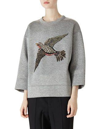 Gucci Embroidered Jersey Sweatshirt & Wool Menswear Pant