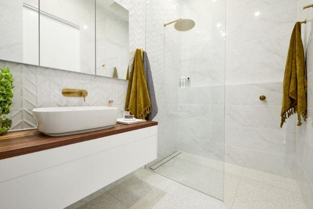 How Long Does A Bathroom Take The Block Vs Reality Laundry Design Laundry Room Design Reece Bathroom