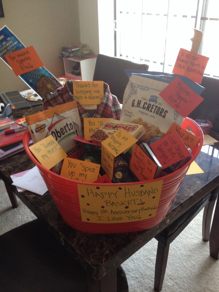1st anniversary gift basket little things that will make