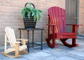 Big and small Rocking Chair plans - The Barley Harvest Woodworking