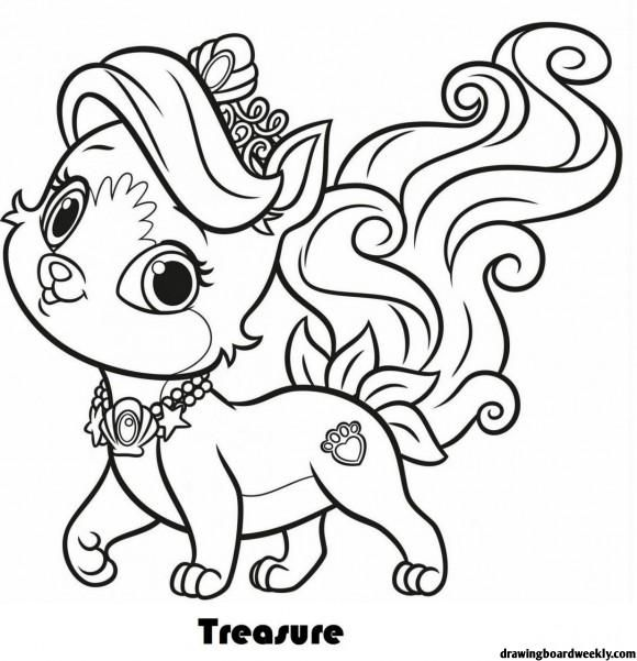Palace Pets Coloring Pages In 2020 Puppy Coloring Pages Cat Coloring Page Animal Coloring Pages