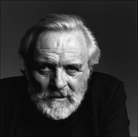 Anthony Hopkins (1937) - Welsh actor of film, stage, and television, and a composer and painter. Photo by Patrick Demarchelier (1998)