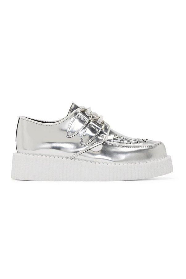 How to add fashionable metallic pieces into your everyday outfit! Silver creepers.