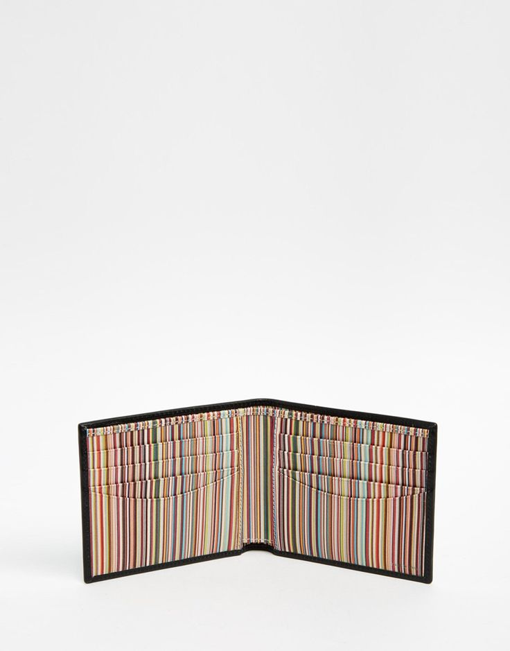 Image 4 of Paul Smith Leather Billfold Wallet With Multistripe Lining