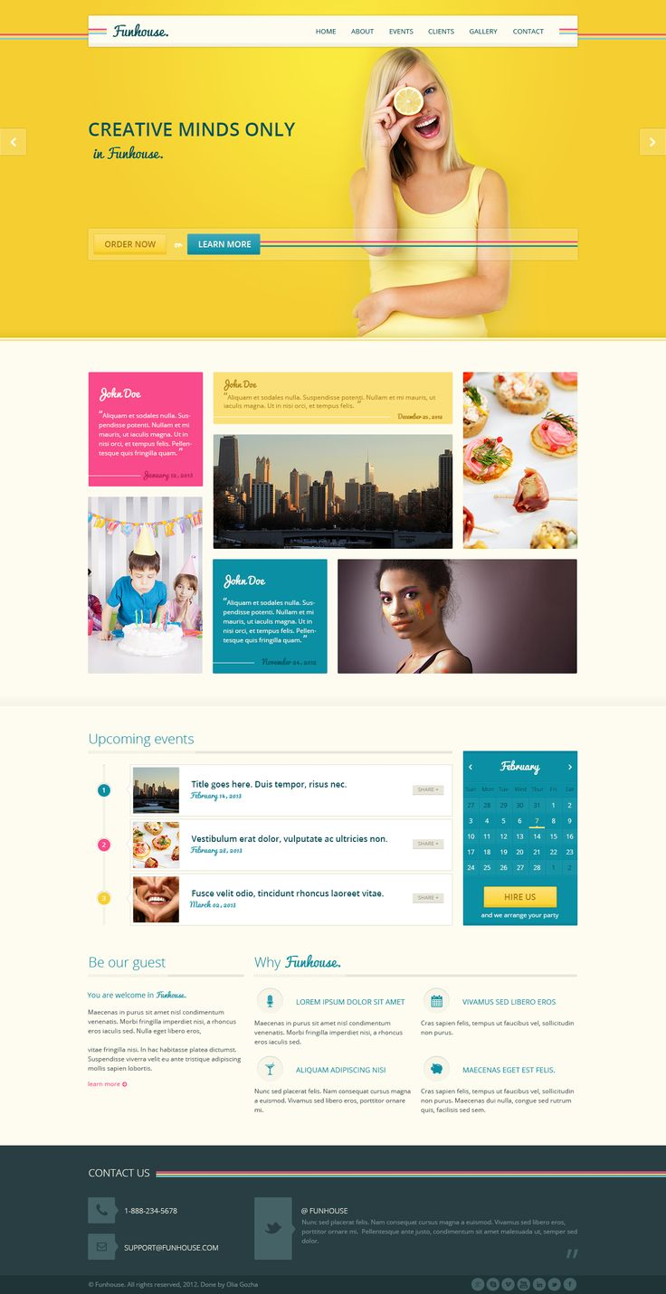 bright and colorful web design