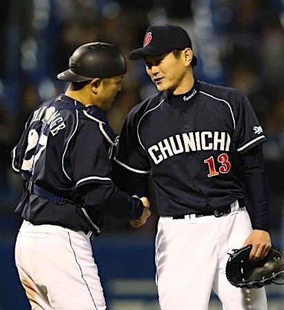 Motonobu Tanishige and Hitoki Iwase (Chunichi Dragons)