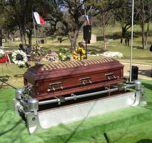 Chris Kyle's casket...