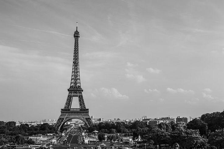 La Torre Eiffel en blanco y negro, Eiffel Tower, B&W.