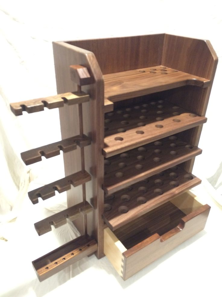 This Essential Oil Display Rack Is Made Of Walnut And S