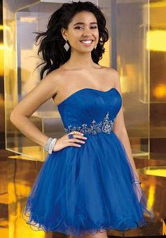 Baby Doll Tulle Empire Short Length Scoop Blue Dress For Prom - Angeldress.co.uk