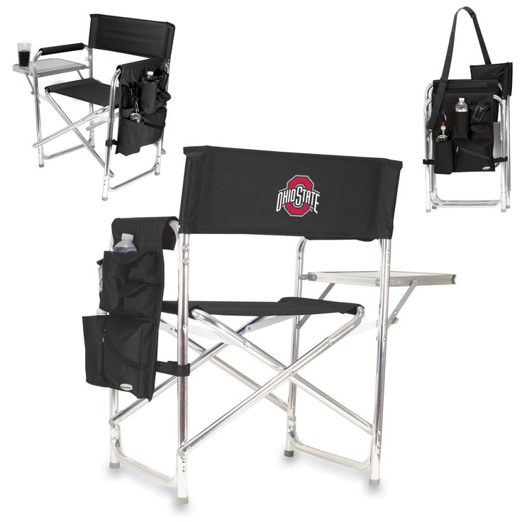 Ohio State Buckeyes Sports Chair With Fold Out Table by Picnic Time