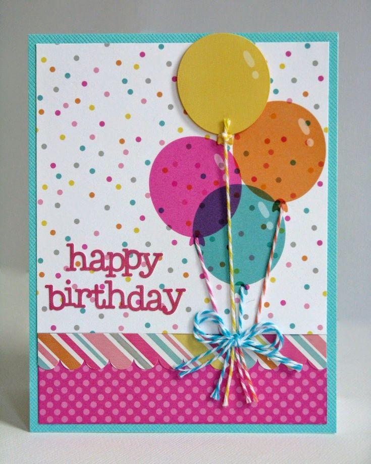 Tarjeta con globos de cumpleaños.