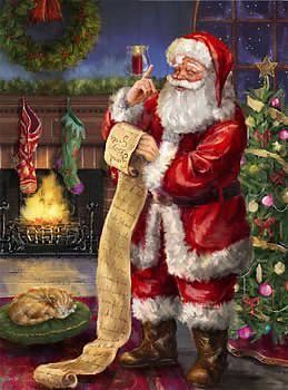 Yuletide Cheer - Santa with List jigsaw puzzle by Ceaco