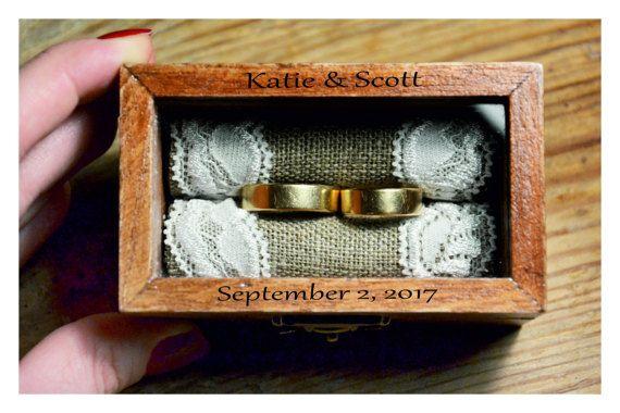 Ring-Box personalisierte Ring-Box mit Glasdeckel