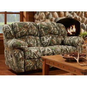 Save The Camo Double Reclining Loveseat By Cambridge