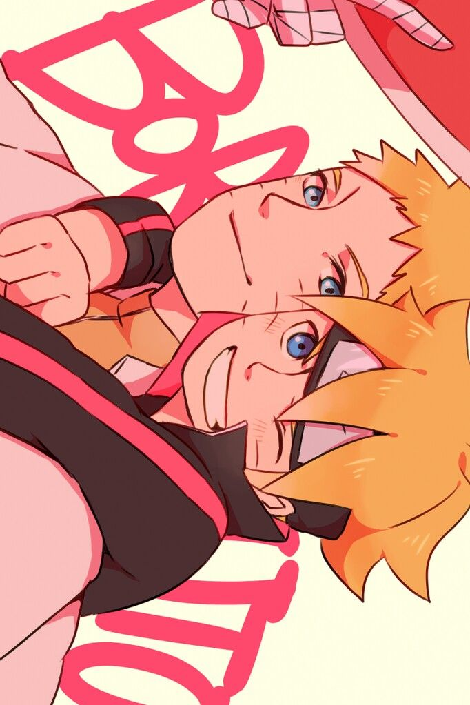 I can't wait for his movie! This is such a cute picture but by the movie preview Boruto is kinda bratty... I hope he doesn't hate Naruto