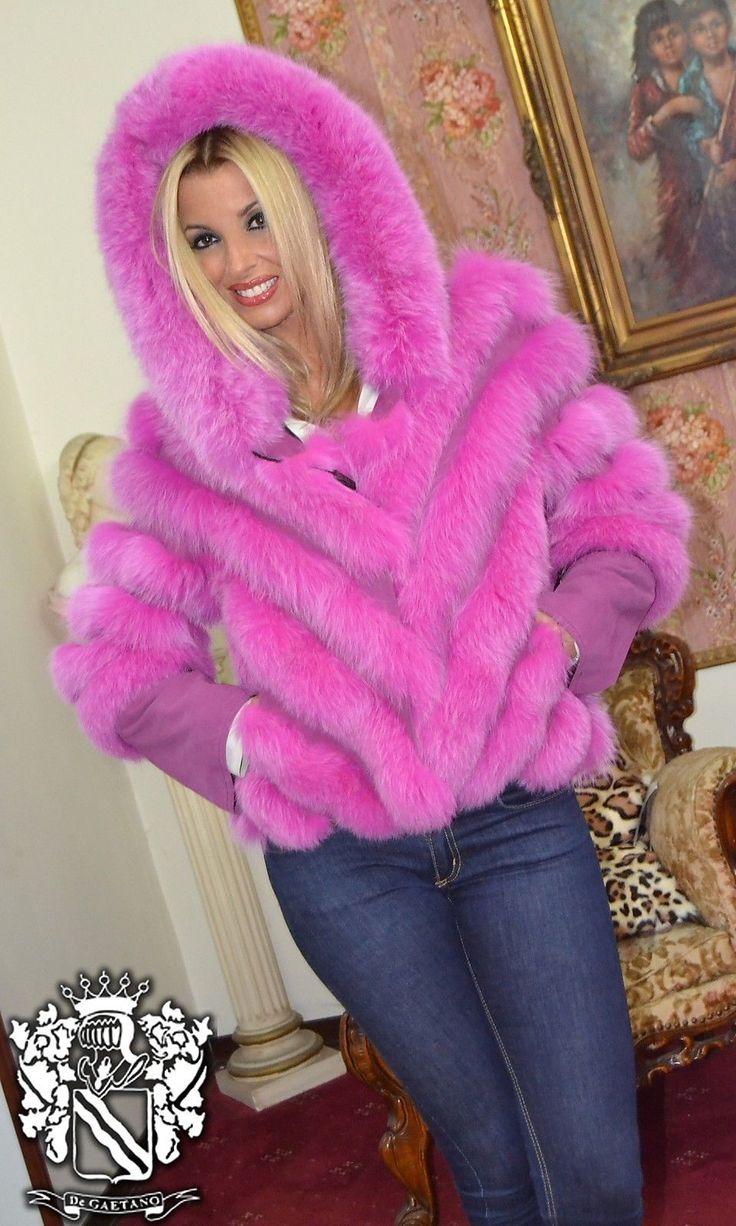 PELZ PELZMANTEL MANTEL FASHION FUCHS FUR COAT FOX PELLICCIA VOLPE мех лисы in Abbigliamento e accessori, Donna: abbigliamento, Cappotti e giacche   eBay