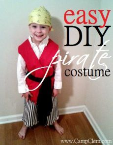 easy DIY pirate costume for play, halloween, or theme days: simple sew pants tut…