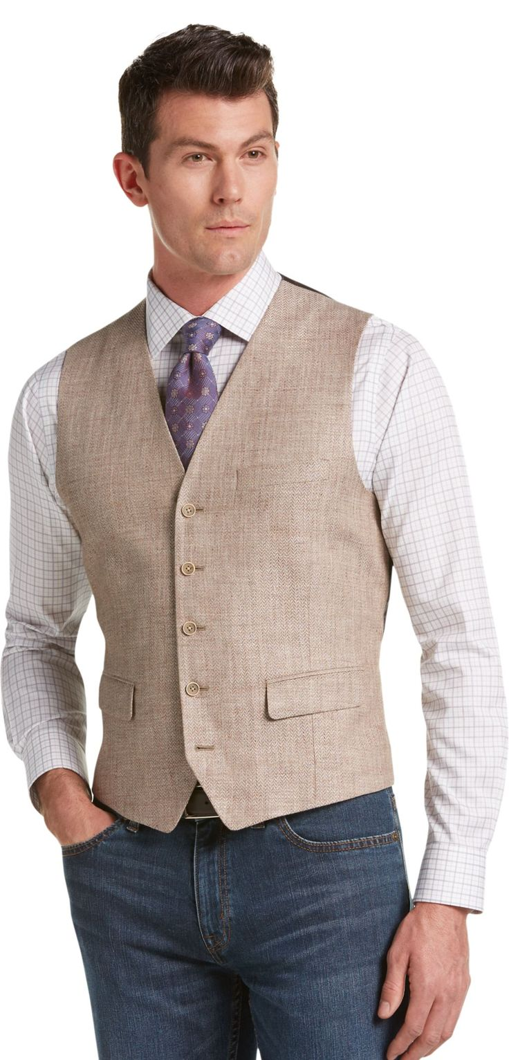 Check this out! Joseph Abboud Tan Herringbone Vest Big & Tall CLEARANCE from JoS. A. Bank Clothiers. #JosABank