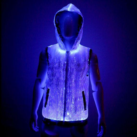 Light up hoodie burning man clothing edm by YourMindYourWorld