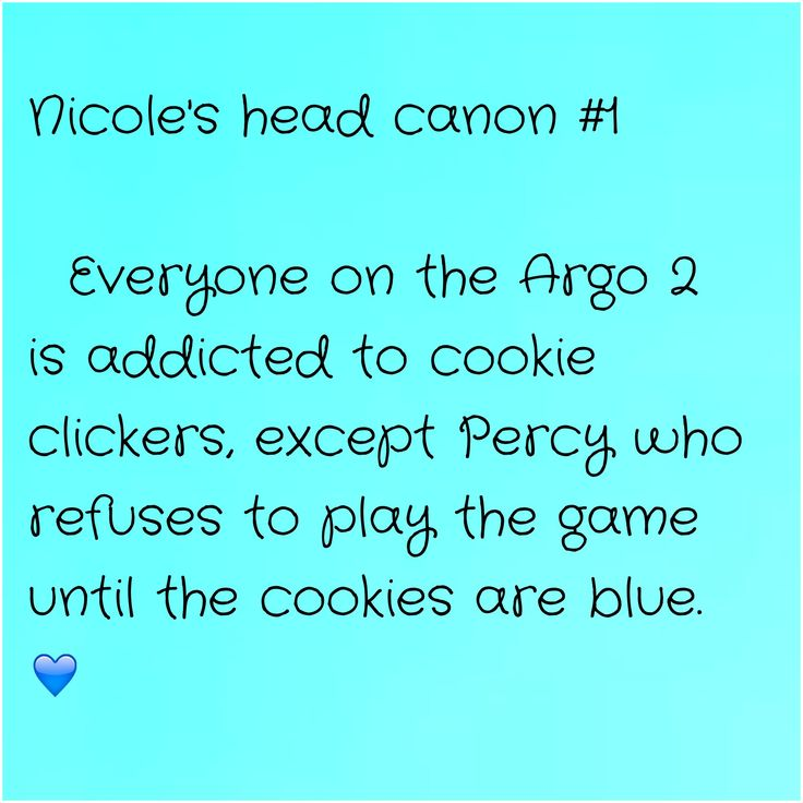 my first head canon!! I'm currently a little addicted to cookie clickers...