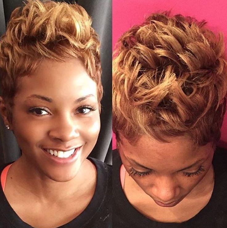 Beautiful blonde pixie by @stylesbykim__ - https://community.blackhairinformation.com/hairstyle-gallery/short-haircuts/beautiful-blonde-pixie-stylesbykim__/