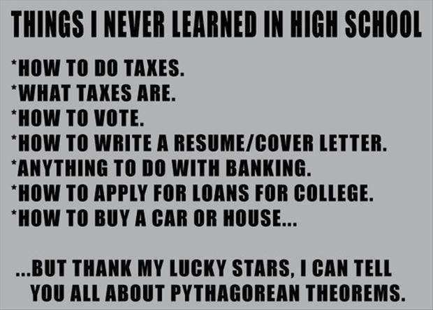 Thank You for preparing me for real life. The reason I argued with every teacher. .