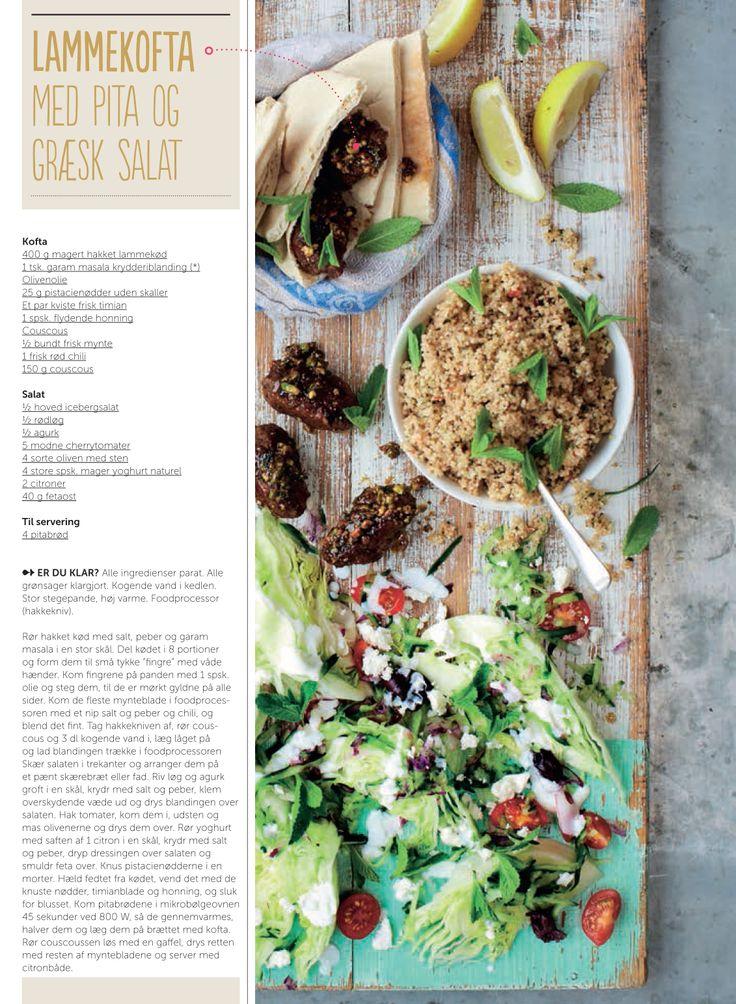 Lammekofta med pita og græsk salat - opskrift af Jamie Oliver for Silvan