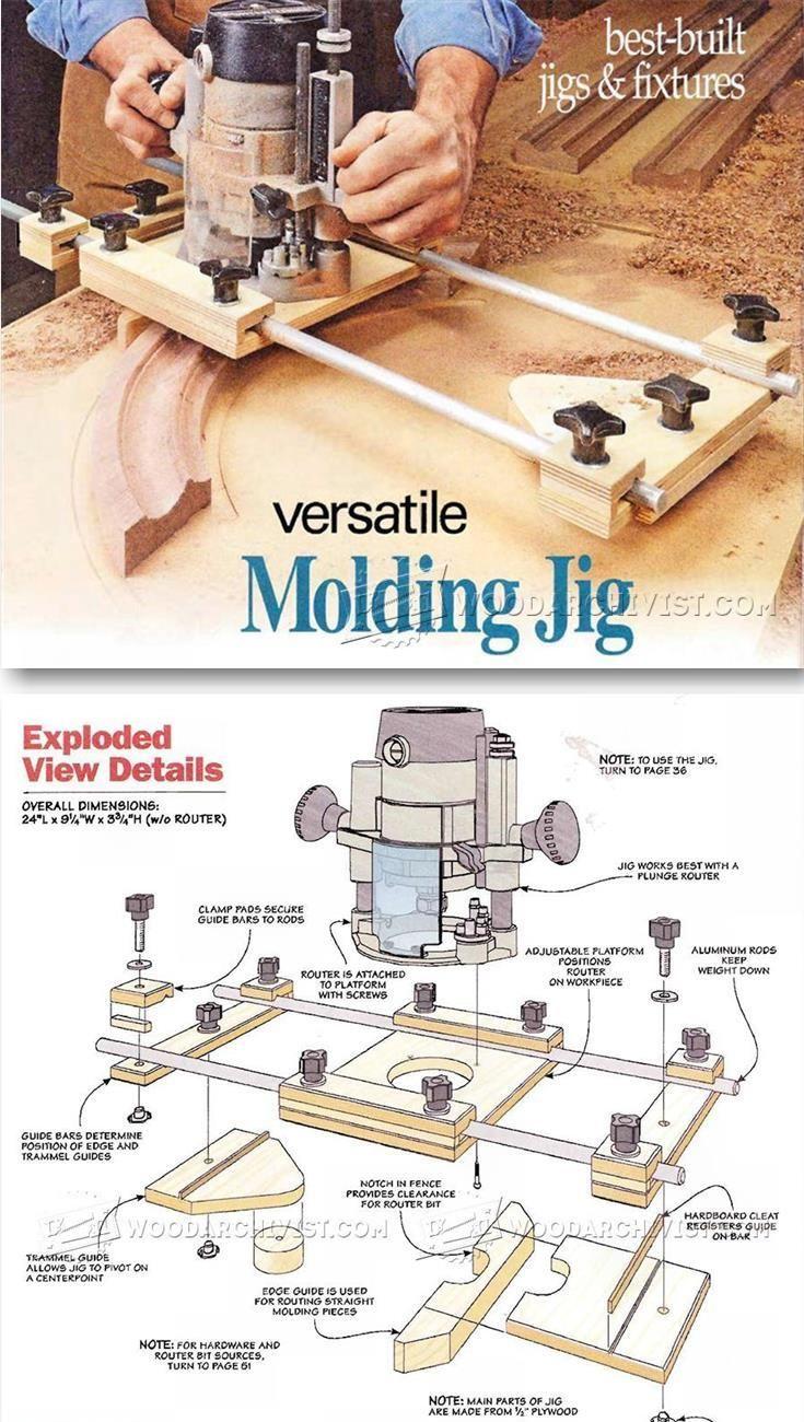 Molding Jig - Furniture Molding Construction Techniques   WoodArchivist.com