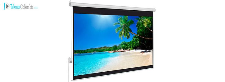 Pantalla eléctrica de video beam de 170 x 128 cms