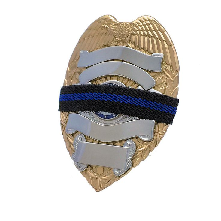Mourning Band BL050 Blue Line on Black Woven Half Inch