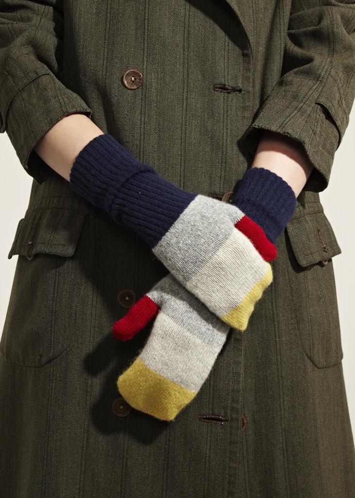 colour block mittens  Jo Gordon