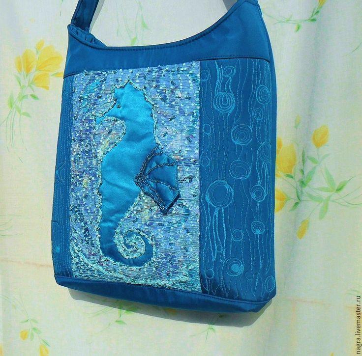 Купить Текстильная сумка Морская - рисунок, купить сумку женскую, купить сумку из текстиля
