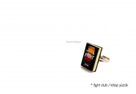 Fight Club / Kitap Yüzük #fashion #design #miniature #food #art #miniaturefoodart #polymerclay #clay #minyatur #polimerkil #kil #nutella #tasarim #taki #sanat #moda #sokak #tutorial #yummykupe #mold #kalip #nasil #bileklik #kolye #kupe #yuzuk #aksesuar #kadin #ring #earring #accesorie #necklace #fight #club #fightclub #book