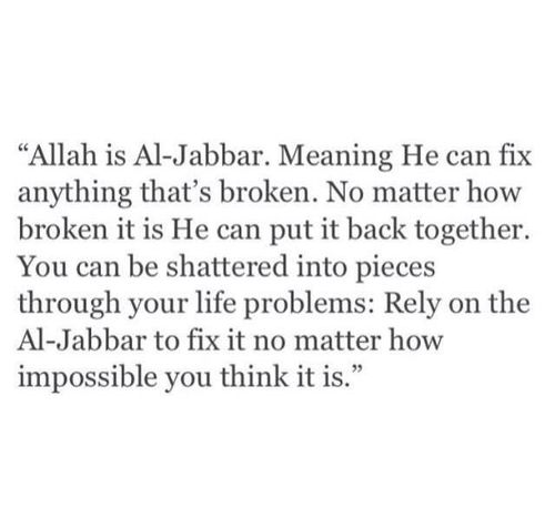 Subhaan Allah..This is so true and why I never lose hope..Alhamdulillah..