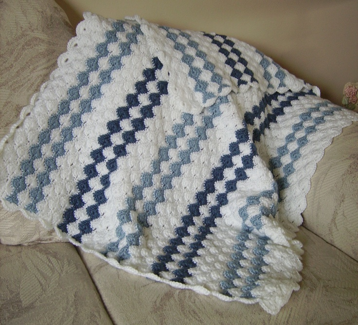 Crochet Afghan Patterns For Guys : Baby Boy Blanket (Crocheted) Things I Have Made ...