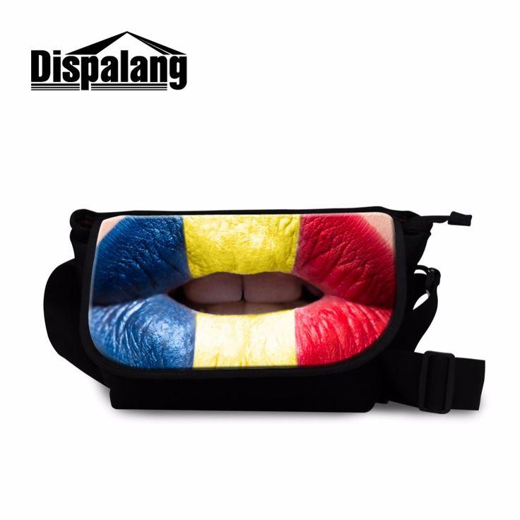Dispalang Shoulder Handbags Tip 3D Printed Messenger Bags American Canada Flag School Messenger Bag for Girls Crossbody Bag Boys