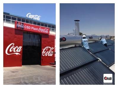 Η Coca-Cola για το εργοστάσιο της στην Αίγυπτο επέλεξε ηλιακούς θερμοσίφωνες Calpak