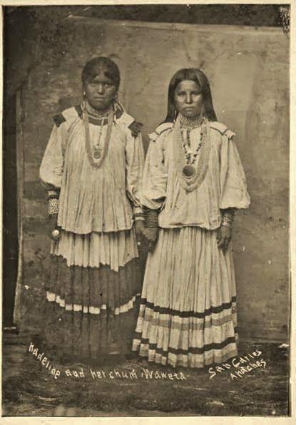 *Two Apache Indian women taken in the 1880s