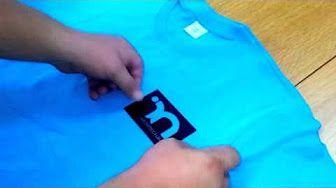 Potisk trička (samodoma) - YouTube