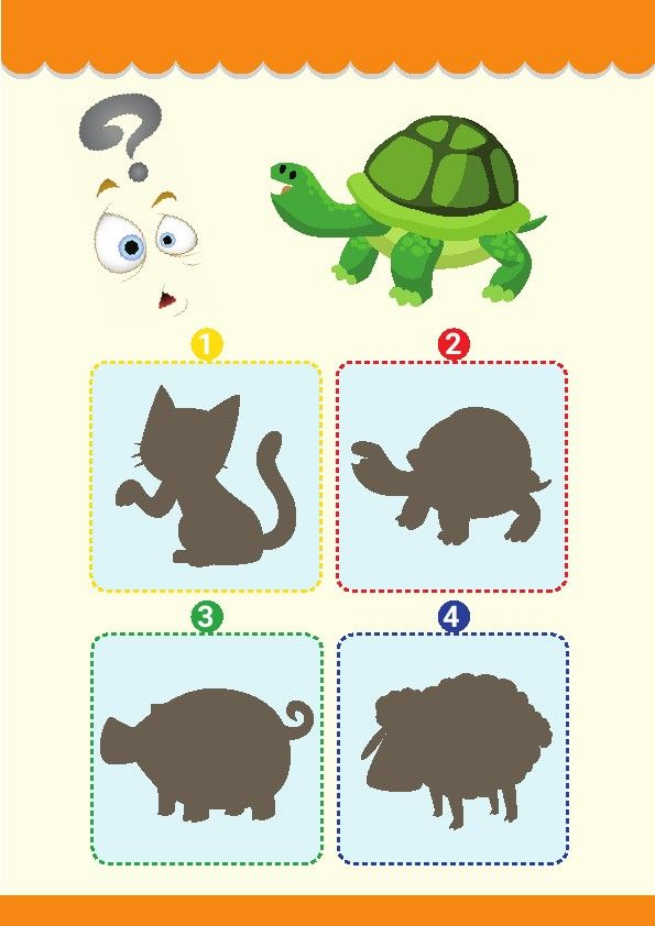 Shadow Matching Game Animals Find The Shadow Picture That Exactly Matches The Picture Shadow Choose The Correct Num Animal Games Matching Games Turtle Theme