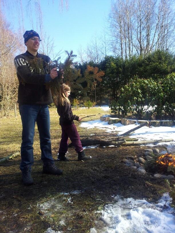Burning xmas tree