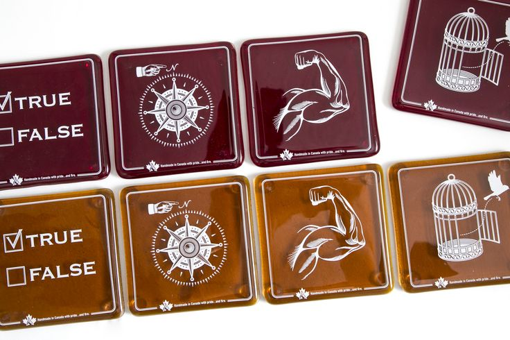 Canadian Rebus Coasters-True/North/Strong/Free